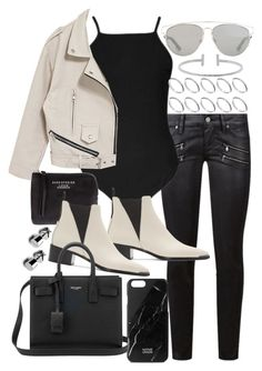 """""""Untitled #19959"""" by florencia95 ❤ liked on Polyvore featuring Paige Denim, Topshop, Christian Dior, Acne Studios, ASOS, Humble Chic, Native Union and Yves Saint Laurent"""