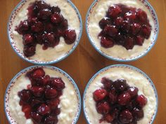 Ris a la Mande (rice pudding with almonds). The cherry topping is a must. I just adore it! To follow tradition, add one whole almond to the batch, and the person who ends up with the almond in their serving gets a special little gift. Find the recipe here.