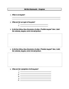 Printables Enzyme Worksheet enzymes graphing and critical thinking problem solving enzyme worksheet activity pack