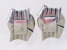 Vintage Leru Silver Tone Abstract Clip by delightfullyvintage