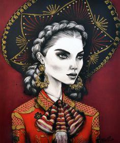 'Chica De Oro' by Pippa McManus, 2014, COPYRIGHT © of Pippa McManus