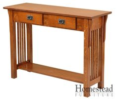 Lakota Console The focus is on the craftsmanship Lakota Console, making it a perfect fit for the craftsman mission style.  Quarter sawn oak is an obvious choice for this chest of drawers, but additional woods and finishes are available to suit your tastes. Pair it with other Mission pieces to complete your craftsman mission room design. http://homesteadfurnitureonline.com/occasionals_lakota-console.html