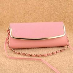 Fluorescent jelly style, womens fashion pink #clutches evening bag
