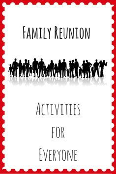 Planning a family reunion? Check out this list of fun family reunion activities for all ages, as well as recommendations on what to look for in booking a site. Family Reunion Activities, Summer Activities For Kids, Party Activities, Family Reunions, Planning A Family Reunion, Family Games, Party Games, Youth Activities, Group Games