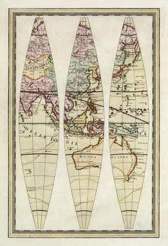 Globo Terrestre Iii, 1792 by Giovanni Maria Cassini