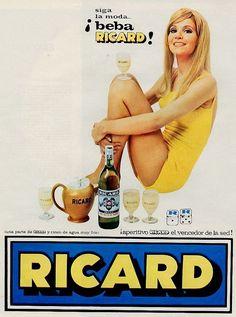 Ricard. Año 1968. Sexismo y alcohol, la tónica común en aquellos años.