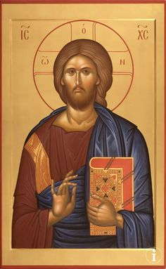 Icon of Christ the Teacher. Byzantine Icons, Byzantine Art, Religious Icons, Religious Art, Christ Pantocrator, Church Icon, Roman Church, Images Of Christ, Guardian Angels