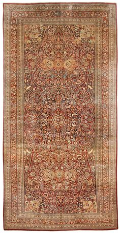 Antique Meshed Carpet 6.9 X 13.6 - Fred Moheban Gallery