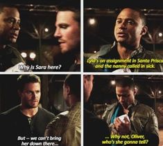 Arrow - Oliver and Diggle aww yeah olly who is she gonna tell Arrow Tv Series, Cw Series, Book Series, The Cw Shows, Dc Tv Shows, Oliver And Felicity, Felicity Smoak, The Flash, Arrow Memes