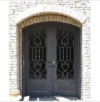 Classy wrought iron double entry door - www. Double Entry Doors, Wrought Iron Doors, Tall Cabinet Storage, Classy, Furniture, Home Decor, Modern Gates, Iron Doors, Wrought Iron