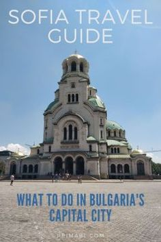 A Pinterest pin image on things to do in sofia