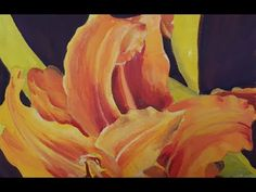 Timelapse: Gouache Painting of Gold Asiatic Daylily Cropped - YouTube