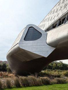 2005-2008 | Zaragoza Bridge Pavilion (Zaragoza, Spain) | Design by Zaha Hadid | Source