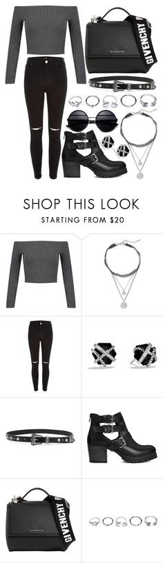 """256."" by plaraa on Polyvore featuring WithChic, Design Lab, River Island, David Yurman, Yves Saint Laurent, Carvela, Givenchy and GUESS"
