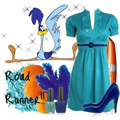 Road Runner!! for Polka My Dot ina mid-life crisis, created by pinkpup on Polyvore