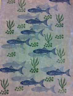 Blockprinting, fish