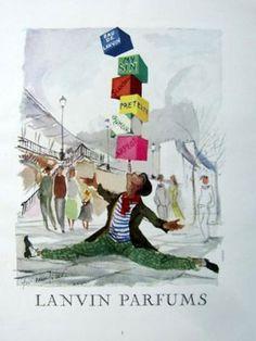 * Publicité parfums Lanvin 1954 Guillaume Gillet (1912-1987)