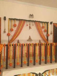 Awesome wedding entrance decorations at home 34 Diwali Decorations At Home, Home Wedding Decorations, Stage Decorations, Festival Decorations, Flower Decorations, Marriage Decoration, Flower Garlands, Entrance Decor, Wedding Entrance