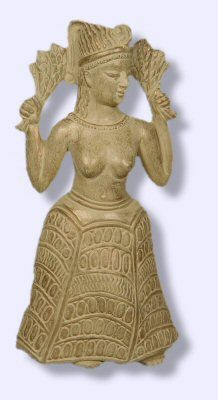 Sumerian Inanna, later Astarte and anything else....compare to Minoan dancers