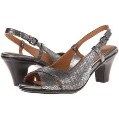Sofft Verina High Heels, Silver ($63) ❤ liked on Polyvore