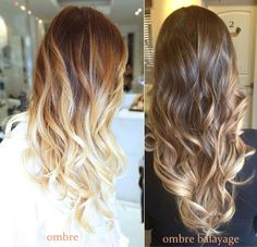 Technique blend ombre balayage