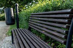 #bench #park #trash #trees #bush