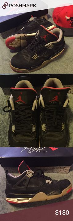 Jordan 4 breds 8/10 condition   Only worn handful of times   I bought it for 200 letting it go for 180 Jordan Shoes Athletic Shoes