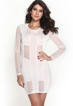 Material : 100% Polyester This Sexy Womens Bandage Open Back Mesh Hollow out Club Dress is perfect for those who are looking forward to spending a beautiful night in club. Long sleeves and fitted body, the transparent mesh hollow out design not only reveals potential sexiness and assets but also brings you flirting amorous to guys around, the backless is called a silently but declared seduction. Everyone loves it. Size Chart (CM)     Size/ Option   Bust   Waist   Hip   Length     Relax…
