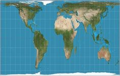 "Gall-Peters Projection world map | While originally created by James Gall in 1885, the Gall-Peters Projection came into public consciousness in 1967 when Arno Peters championed it as a more accurate representation of the size of countries. It was considered controversial for calling into question the way the ""third-world"" is represented."
