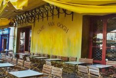 Arles, France, Cafe van Gogh from the painting Starry Night. Ate there!