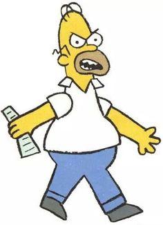 Homero Simpson papá enojado
