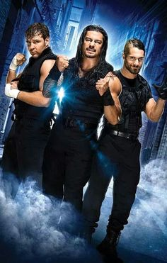 WWE ... The Shield ... Dean Ambrose, Roman Reigns and Seth Rollins