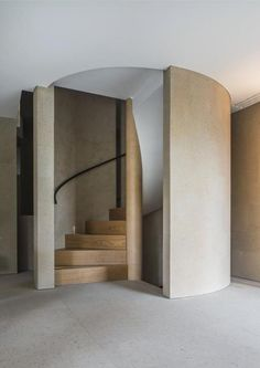 Spiral stairs - Cannon Lane House London by Claudio Silvestrin 2016