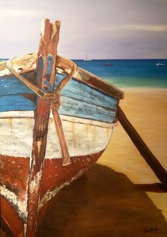 Ocean Paintings On Canvas, Chile, World, Crafts, Art, Chalk Pastels, Canisters, Boats, Fabrics