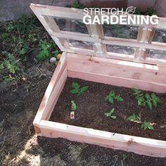 Build a Cold Frame   Garden Club...basic cold frame plan using lexan