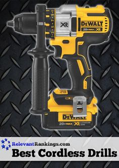 Reviews of the top 10 best cordless drills from RelevantRankings.com