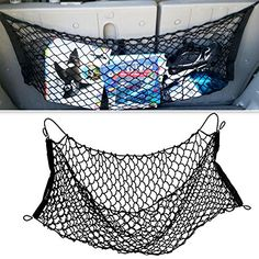 Zone Tech Mesh Vehicle Organizer Premium Quality Sturdy Black Net Item Trunk Cargo Car Organizer * Click on the image for additional details.Note:It is affiliate link to Amazon.