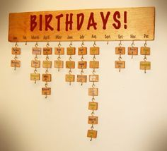 Love This Idea DIY Diy Christmas Ornaments Birthday Chart