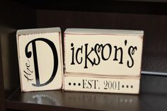 61 Ideas For Wedding Signs Established Wood Blocks Vinyl Crafts, Wooden Crafts, Vinyl Projects, 2x4 Crafts, Glass Blocks, Wooden Blocks, Wood Block Crafts, Name Blocks, Wood Vinyl