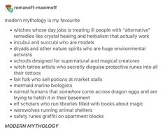 modern mythology and urban fantasy - writing prompts