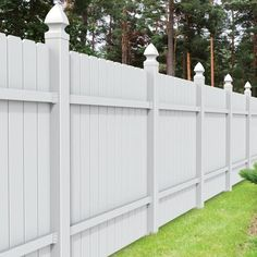 Freedom (Actual: X Pre-Assembled All American Dogear White Vinyl Dog Ear Vinyl Fence Panel 73030000 - Modern White Vinyl Fence, Vinyl Fence Panels, Privacy Fence Panels, White Fence, Vinyl Fencing, Fence Landscaping, Backyard Fences, Fence Around Pool, Dog Ear Fence