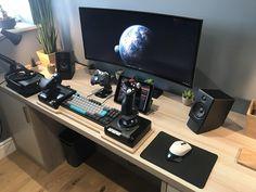 Seated VR battlestation Computer Setup, Gaming Setup, Microsoft Surface, Home Decor, Pictures, Stuff Stuff, Photos, Decoration Home, Room Decor
