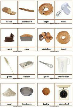 Woordkaarten bakker