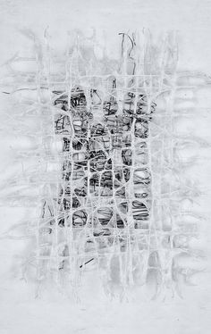 Jennifer Davies | Concurrence | handmade paper + thread