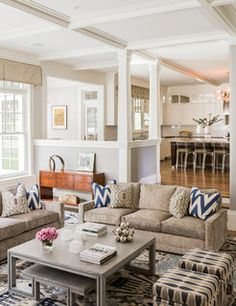 Hilltop Gambrel Family Room - contemporary - living room - boston - by LDa Architecture & Interiors