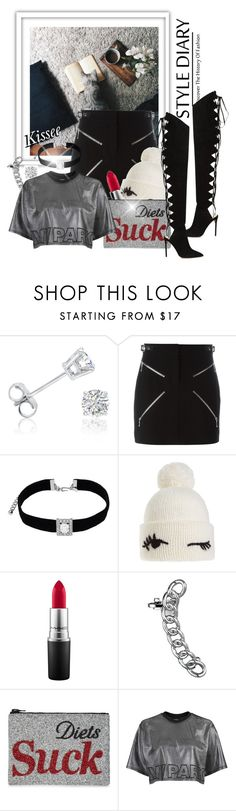 """""""Untitled #1099"""" by kisses4u ❤ liked on Polyvore featuring Amanda Rose Collection, Alexander Wang, Kenneth Jay Lane, Kate Spade, MAC Cosmetics, I Know The Queen, Topshop, Alexandre Vauthier and fall16"""