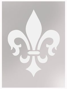 Fleur de lis wallpaper stencil painting stencil by IdealStencils