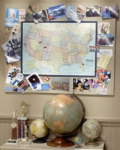 Learn how to create your own map memory board using photos from your favorite travel destinations.