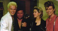 Billy Idol, Sam Kinison, Madonna and David Bowie
