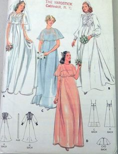 Butterick Pattern 5939 Bridal gowns and by retroactivefuture, $5.00